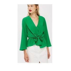NWT topshop Knot Front Blouse